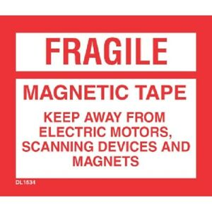 4 X 4 3 4 Fragile Magnetic Tape Labels 500 Per Roll