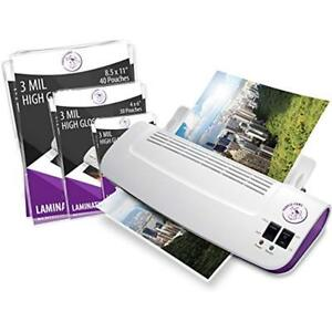 Purple Cows Hot And Cold 9 Laminator Warms Up Just 3 5 Minutes With 50