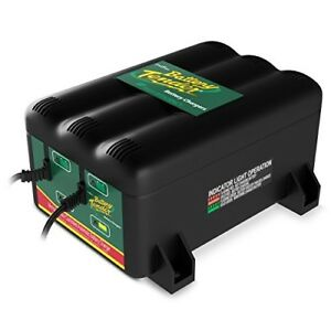 2 port Battery Charger Station Maintainer For Boat Car Atv Jet Ski Motorcycle A