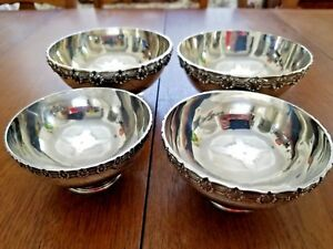 Tiffany English King Sterling Silver Serving 4 Bowl Set Mayo Christening Gravy