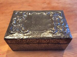 Pretty Arts And Crafts Pewter Box
