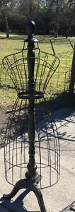 Wire Mannequin dress Form 61inches Tall Black With Dark Wood Base