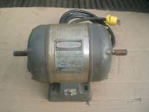 Vintage Craftsman Dual Shaft Electric Motor With Pulley 3 4 Hp 115v 3450 Rpm