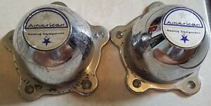 American Racing Wheel Center Caps Set Of Two 2 Fair Condition See Pictures