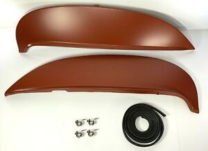 Pair Fender Skirts For 1964 Chevy Impala Bel Air Biscayne Kit Clamps Rubber