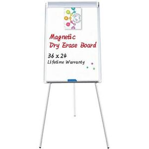Easel White Board Magnetic Tripod Whiteboard Portable Dry Erase 36x24 Inches