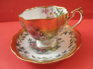 Queen Anne 1936 Cup Sacuer Hand Painted By Mary Fedden Famous England Painter