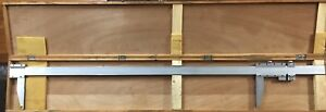Stainless Steel Vernier Caliper 0 60 Inch 6 Long Used