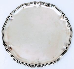 Antique 1900 S Germany G Hermeling 800 Silver Tray