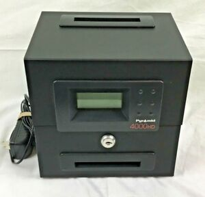 Pyramid 4000 Hd Time Recorder Employee Time Clock no Key Pre owned