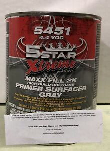 5 Star 2k High Build Urethane Gray Primer W Activator Quart Kit Ppg Axalta Nason