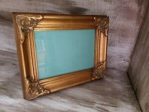 Vintage 5x7 Baroque Style Antique Ornate Gold Gilt Gesso Picture Frame Wood