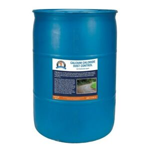 Bare Ground One Shot 55 Gal Drum Of Calcium Chloride For Gravel Roads