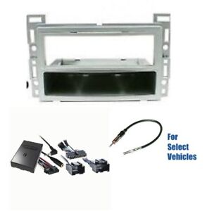 Silver S Din Car Stereo Dash Wire Kit Combo Steering Onstar For Some Chevrolet
