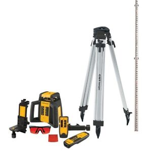 2000 Ft Self leveling Rotating Laser Level Kit 10 piece Rugged Cst berger
