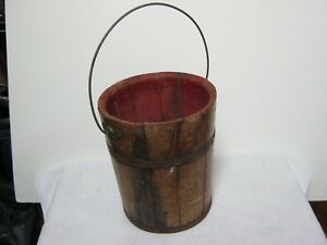Antique Wooden Feed Bucket All Original Found In An Old Pennsylvania Barn
