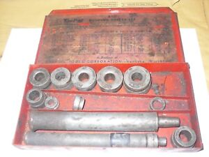 Snap On A157 1 A157 2 Bushing Driver Drift Set In A Blue Point A157 Metal Case
