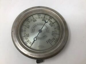 Antique Crosby Pressure Gauge Holly Manufacturing Co Steam Engine Lockport Ny 9
