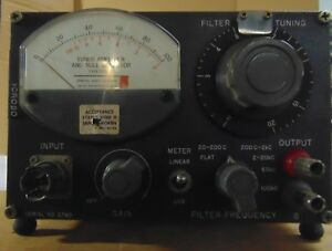 General Radio Type 1232 a Tuned Amplifier And Null Detector