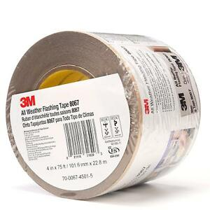 3m 51115316203 All Weather Flashing Tape 8067 Tan 4 In X 75 Ft Slit Liner