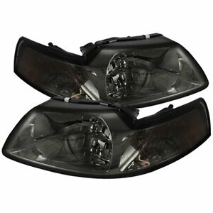 Spyder 5042835 Headlight For 99 2004 Ford Mustang Left And Right Chrome Housing