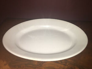Antique Vintage White Ironstone China J G Meakin England Large Platter 1890s