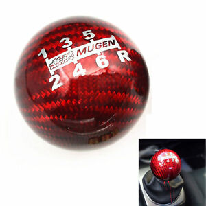 Mugen Red Carbon Fiber Shift Knob 6 Speed For All Honda Acura W m10x1 5 Adapter