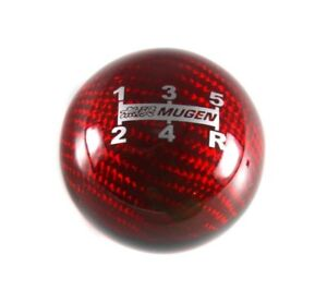 Mugen Red Carbon Fiber Shift Knob 5 Speed For Honda Cr z Civic Accord S2000 Ek