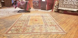 Beautiful Vintage 1950 1960 S Wool Pile Natural Dye Muchur Prayer Rug 3 5 4 9