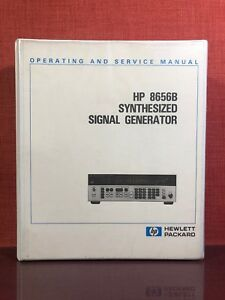 Hp 8656b Synthesized Signal Generator Operating Service Manual Volume 1 1572