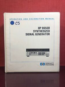 Hp 8656b Synthesized Signal Generator Operation Calibration Manual Vol 1 1571