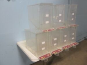 Lot Of 7 Heavy Duty Commercial Acrylic Coffee Bean candy grain Display Dispenser