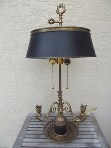 Vtg Chapman French Bouillotte Table Lamp 3 Candle 32 Free Shipping
