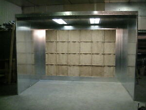 12 Wide X 8 Tall X 7 Deep Paint Spray Booth Open Face