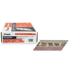 2500 Count Paslode Framing 3 1 4 X 131 Nail Gun 30 Degree Strip Nails 650839