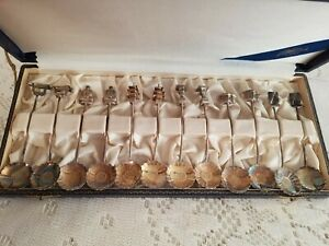 Vintage 950 Sterling Demitasse Spoons Set 12 By Asahi Shoten Japan