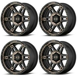 Set 4 17 Xd Series Spy 2 Xd840 17x8 6x4 5 18mm Black Dark Tint Truck Wheels