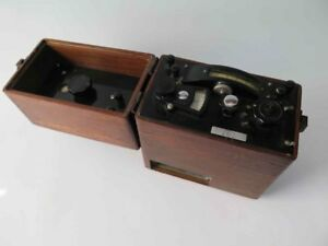 Vintage Leeds Northrup L n Test Set Meter In Wooden Case