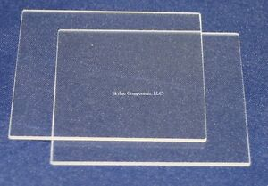 Fused Quartz Glass Plate 50mm X 50mm X 1mm 2 Pieces Free Shipping
