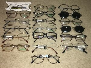 Lot Of 19 Safety Glasses Frames New Old Stock Unused Clip On Sunglasses