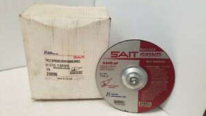 United Abrasives sait 20096 9 X 1 4 5 8 11 A24r Type 27 Grinding Wheel 10 pack
