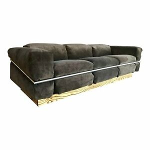 Mid Century Modern Restored Craft Associates Chrome Sofa