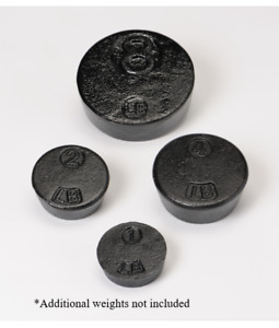 Penn Scale 2 Lb Wt Solid Cast Iron Weight