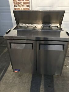 Turbo Air Mst 36 Refrigerated Sandwich Salad Prep Cooler Used Works Great