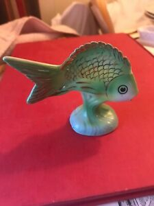 Hollohaza Porcelain Fish Figurine Stamped Art Collectible Hungarian 3 By 3 5