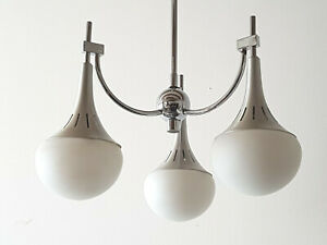 Ceiling Chandelier Gaetano Sciolari 1970 Vintage Space Age 70s Steel Brush 70 S