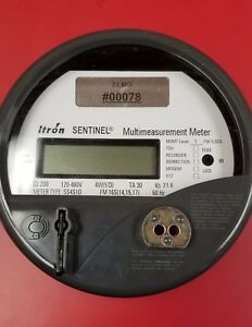 Itron Sentinal Ss4s1d 16s Three Phase Electric Meter 120v 480v 200amp Watt Hour