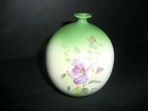 Royal Bonn Vase Franz Mehlem Flowers Germany 4 3 4 T