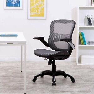 Worksmart Breathable Mesh Seat Back Managers Chair Black Office