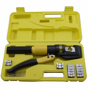 10 Ton Hydraulic Crimper With 8 Dies And Storage Case